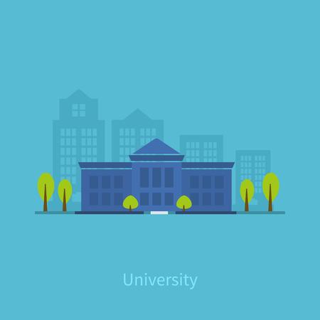 School en universiteit gebouw icoon. Vector illustratie