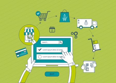 seguridad social: Conjunto de iconos del concepto de dise�o de planos para servicios web y de telefon�a m�vil y aplicaciones. Iconos para el marketing m�vil y las compras seguridad en l�nea. Iconos de l�neas finas Vectores