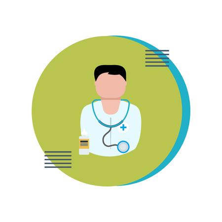 care: Flat design modern vector illustration concept for health care and medical help. Vector illustration