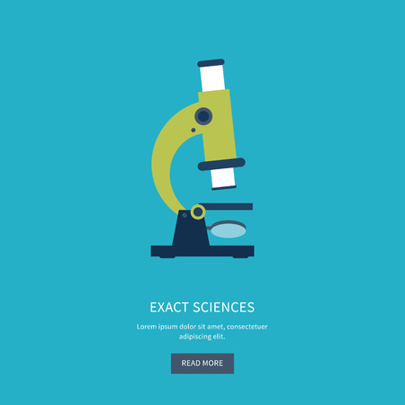 exact science: Flat design modern vector illustration icons set of online education and e-learning