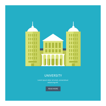 building estate: School and university building icon. Vector illustration