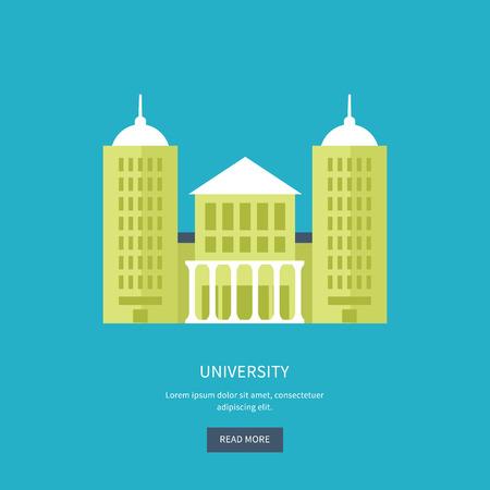 university building: School and university building icon. Vector illustration