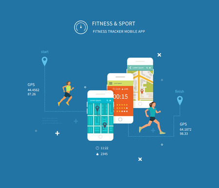 cellulite: Vector mobile phone - fitness app concept on touchscreen. Modern flat vector icons of healthy lifestyle, fitness and physical activity. Healthy lifestyle concept.