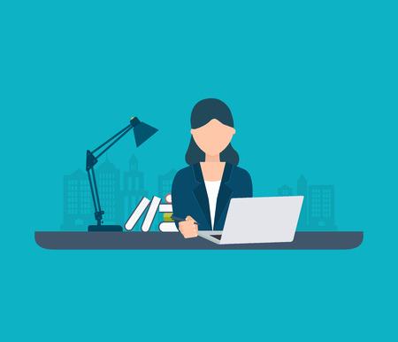 Flat design modern vector illustration icons set of online education, training courses, web library, tutorials.  イラスト・ベクター素材