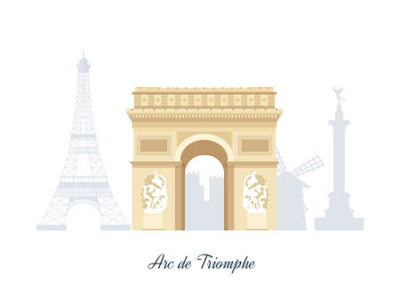 notre: French Landmarks. Travel to France. Eiffel tower, Notre Dame in Paris, France