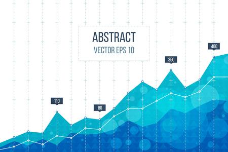 Business diagram grafiek grafiek. Investeringsgroei. Beleggingsbedrijf. Investment management. Financiële strategie concept. Vector Illustratie