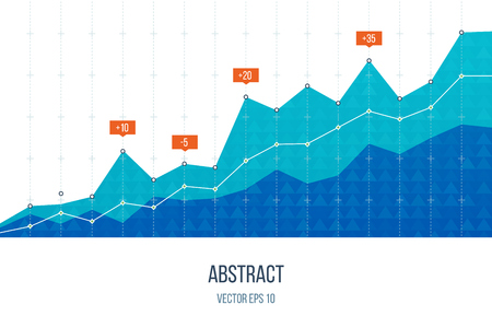 비즈니스 다이어그램 그래프 차트. 투자 성장. 투자 사업. 투자 관리. 금융 전략 개념.