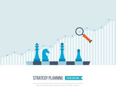 Concetto per gli investimenti, pianificazione strategica, finanza, analisi dei dati di mercato, gestione strategica. Strategia per business di successo. La crescita degli investimenti. Business Strategy. Concetto di strategia. Archivio Fotografico - 51326034