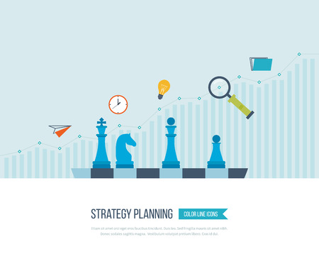 Concetto per gli investimenti, pianificazione strategica, finanza, analisi dei dati di mercato, gestione strategica. Strategia per business di successo. La crescita degli investimenti. Business Strategy. Concetto di strategia. Archivio Fotografico - 51326035