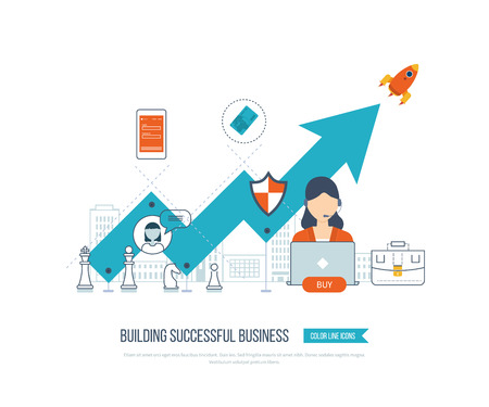 Investment in education. Education concept. Investment business. Investment management. Financial strategy and report. Investment growth. Business development. Strategy of successful business. Illustration
