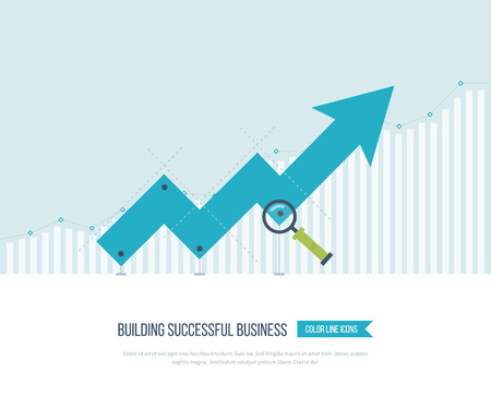investment: Infographic business arrow shape template design. Investment growth. Business development. Strategy of successful business. Illustration
