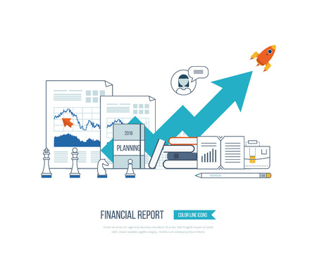 financial statement: Concepts for business analysis, financial statement, consulting, teamwork, project management and development. Investment business. Investment growth. Financial strategy and report.