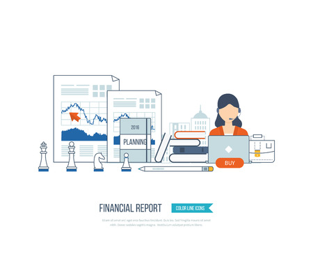financial growth: Concepts for business analysis, financial statement, consulting, teamwork, project management and development. Investment business. Investment growth. Financial strategy and report.