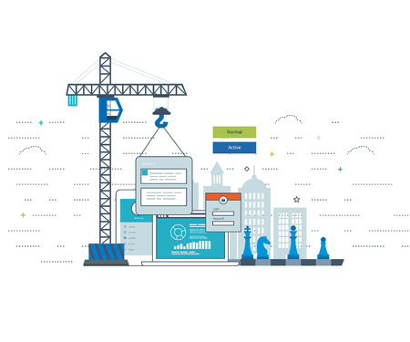 ebusiness: Modern flat design application development concept  for e-business, web sites, mobile applications, banners, corporate brochures. Web application development.  Mobile apps development.