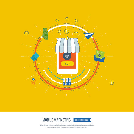 email icons: Digital and mobile marketing concept. Social network. Email marketing. Social marketing. Digital marketing icons. Invest money. Mobile marketing vector icons isolated. Online shopping