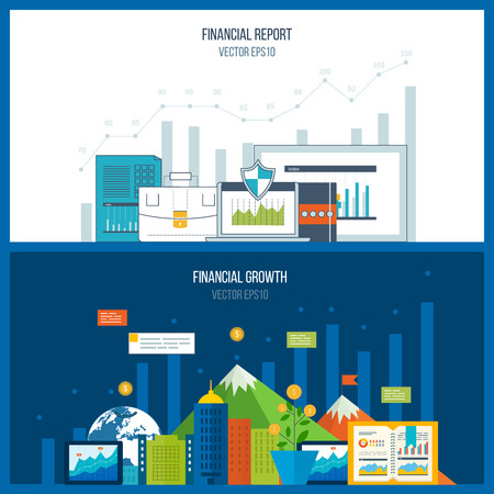 financial growth: Concepts for business analysis and planning, teamwork, financial report and strategy. Business diagram graph chart. Investment growth.