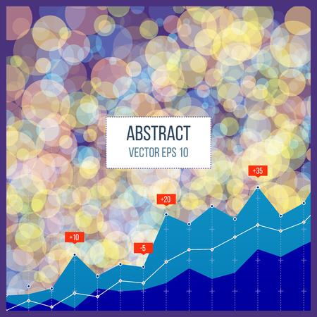 Business diagram grafiek grafiek. Investeringsgroei. Financiële strategie achtergrond Vector Illustratie