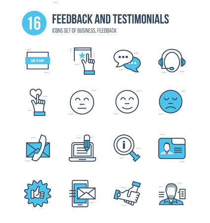 liked: Modern thin line icons set of business, rating, vote and feedback, testimonials, reviews and support. Technology and methods of voting. Editable Stroke. Stroke vector concept for web graphic.