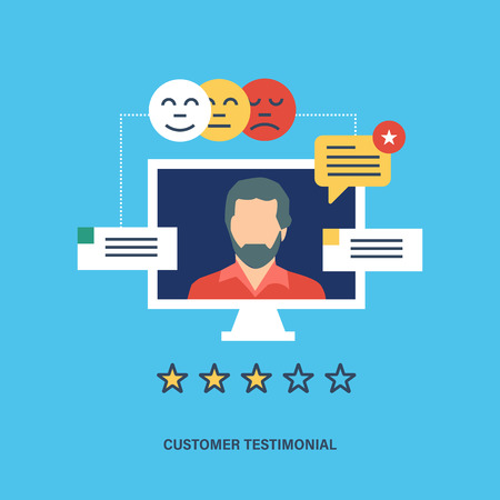 liked: Concept illustration of customer testimonials, business, vote and feedback, reviews and support, rating and liked. Technology and methods of voting. Editable Stroke. Vector illustration.