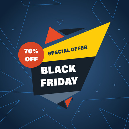 you are special: Black Friday Sale Banner Template and special offers on shopping. Vector abstract illustration. You can use in brochures, banners, graphics, and commercial materials.