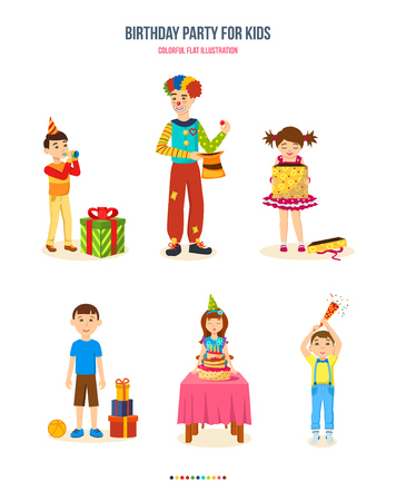 birthday party kids: Birthday party for kids, gifts, cake, fun and surprises