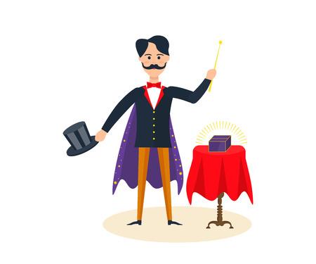 originality: Magician showing magic tricks.