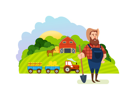 tillage: Farm and farmland, the village with gardens, greenery, harvest, grain.