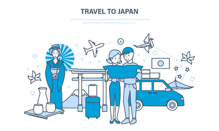 Travel to Japan, joint vacation, acquainted with culture, sights, traditions.
