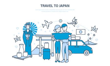 Reis naar Japan, gezamenlijke vakantie, kennis met cultuur, bezienswaardigheden, tradities.