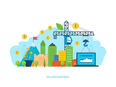 Real estate investment, financial gain and efficiency, successful cooperation.