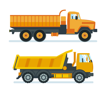 Lorry for transportation of goods, materials, machine for transporting resources. Illustration