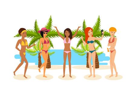 hot woman: Young woman in bikini sun bathing in the summer.