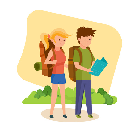 jointly: Tourists are engaged in walking together along an unexplored area.