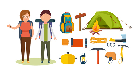 pace: Tourists, engaged in hiking, camping, basic equipment, facilities in hikes.