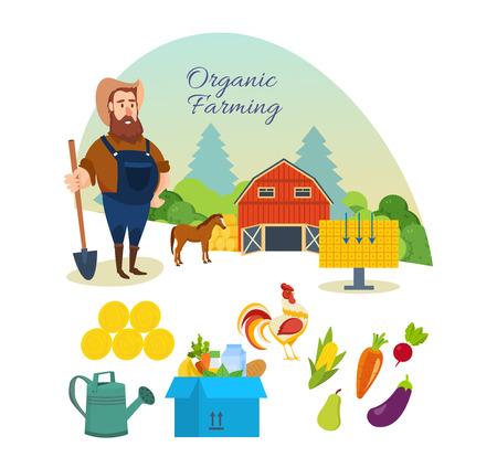 natural food: A Farmer, organic pure natural food, agriculture, clean environment, manual labor.