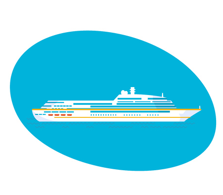 moor: A large cruise passenger liner on a white background.