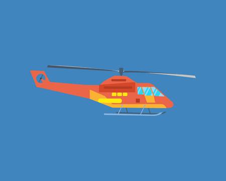 Air vehicles. Modern helicopter for passenger transportation. Illustration
