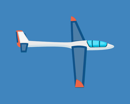 Air vehicles. A modern land glider hovering in the air.