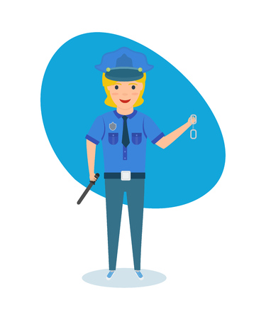 role play: Child in form of policeman, presents himself as rights activist.