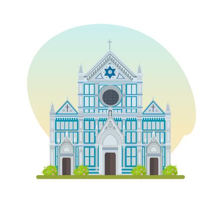 basilica: Tourist attraction, large Franciscan church of Basilica of Santa Croce.