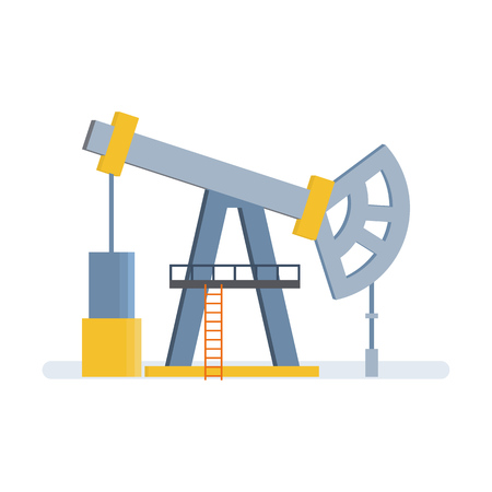 Oil crane, with pump, lift, storage of resources in tanks.