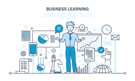 knowledge business: Business learning, online education, training, distance learning, knowledge, teaching, working.