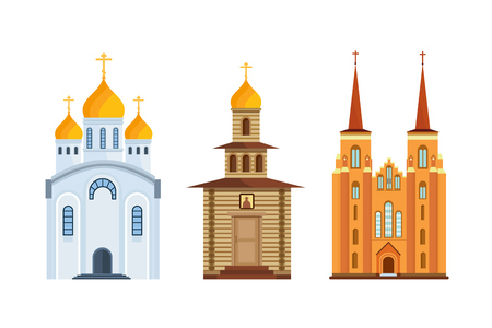 Orthodox church, christian church. Christian chapel, cathedral. Worship, divine power. Illustration