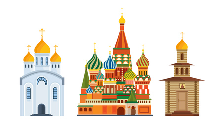 Monuments architecture, famous Orthodox Church of St. Basil Blessed, cathedral.