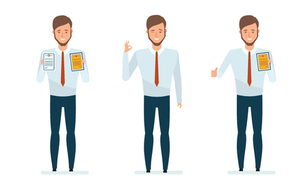 Concept of financial management, research. Vector illustration in cartoon style. Illustration