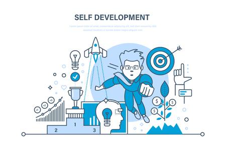 자기 계발. 성장 금융 및 성공 사업. 연습, 창업, 리더십.