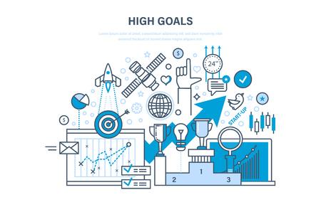 Achievement of high goals illustration.