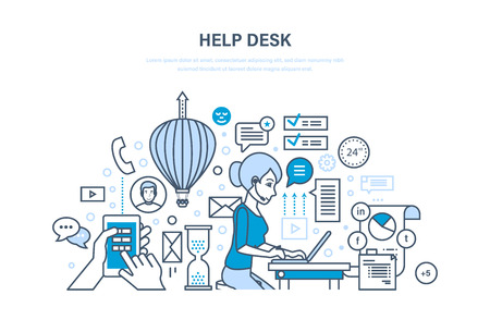 Help desk. Technical support, system consulting clients, means of communication.