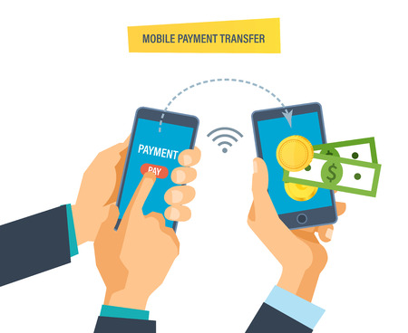 Mobile payment. Financial transactions on money transfers through mobile systems.