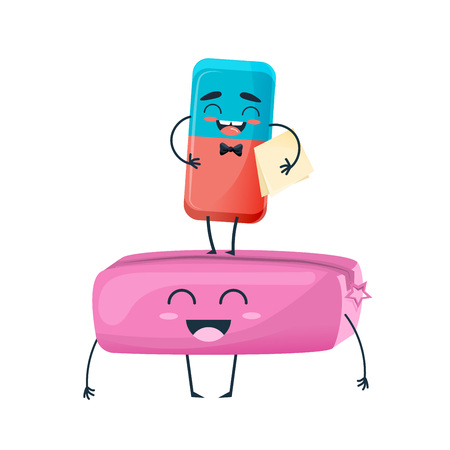 Happy eraser with face